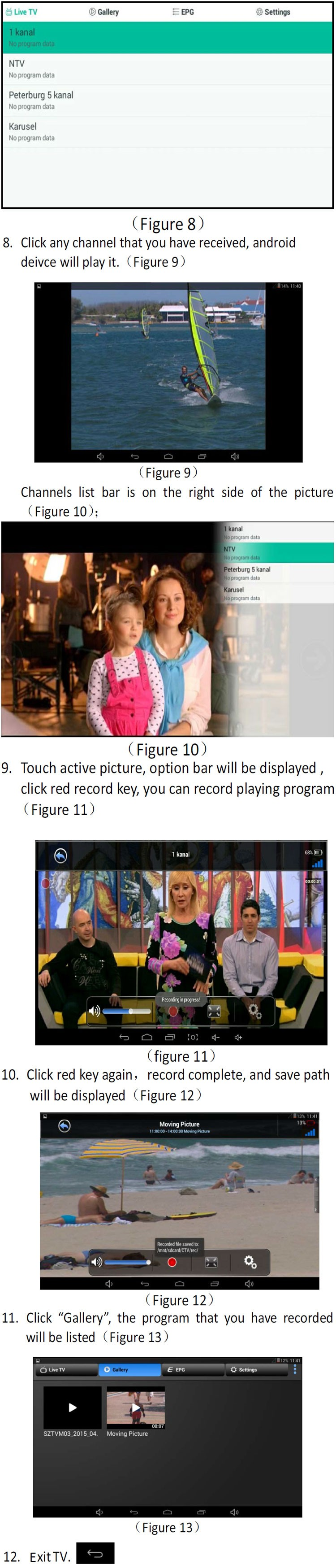 ATSC USB TV stick mobile phone use tuner USA Canada Mexico micro usb android phone pad ATSC-77 23