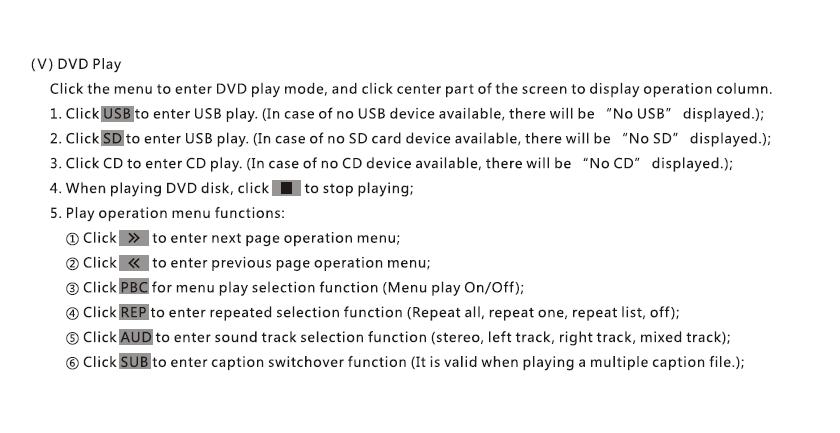 VCAN1294 user manual for 2 din GPS navigation DVD USB SD 11