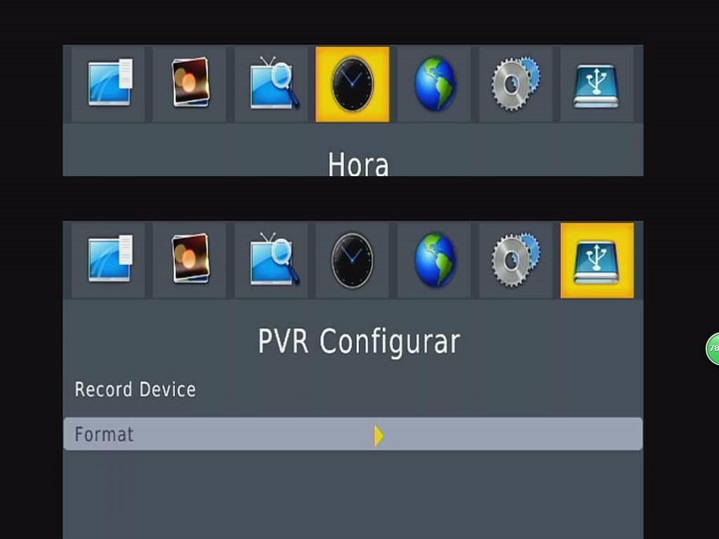Automoible Menú ISDB-T PVR Configurar OSD España