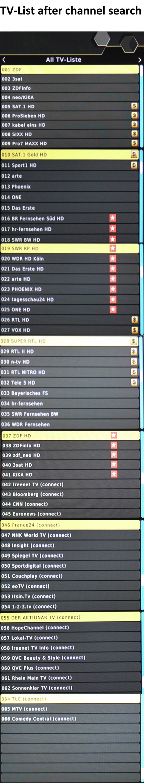 Germany DVB-T2 Channel List