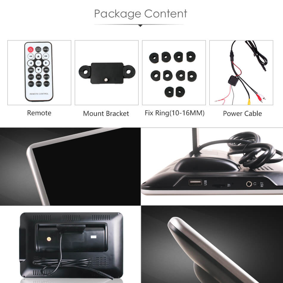 Android Headrest Player 11.6 inch IPS HD Monitor With WiFi Speaker Bluetooth FM transmitter Seat Touch Screen 12V 2PCS Pair 35