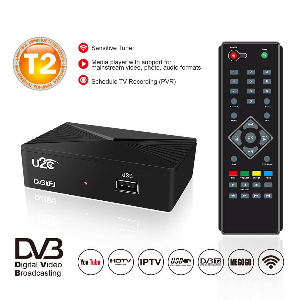 Home STB DVB-T2 90mm factory price HD digital tv box receiver 1