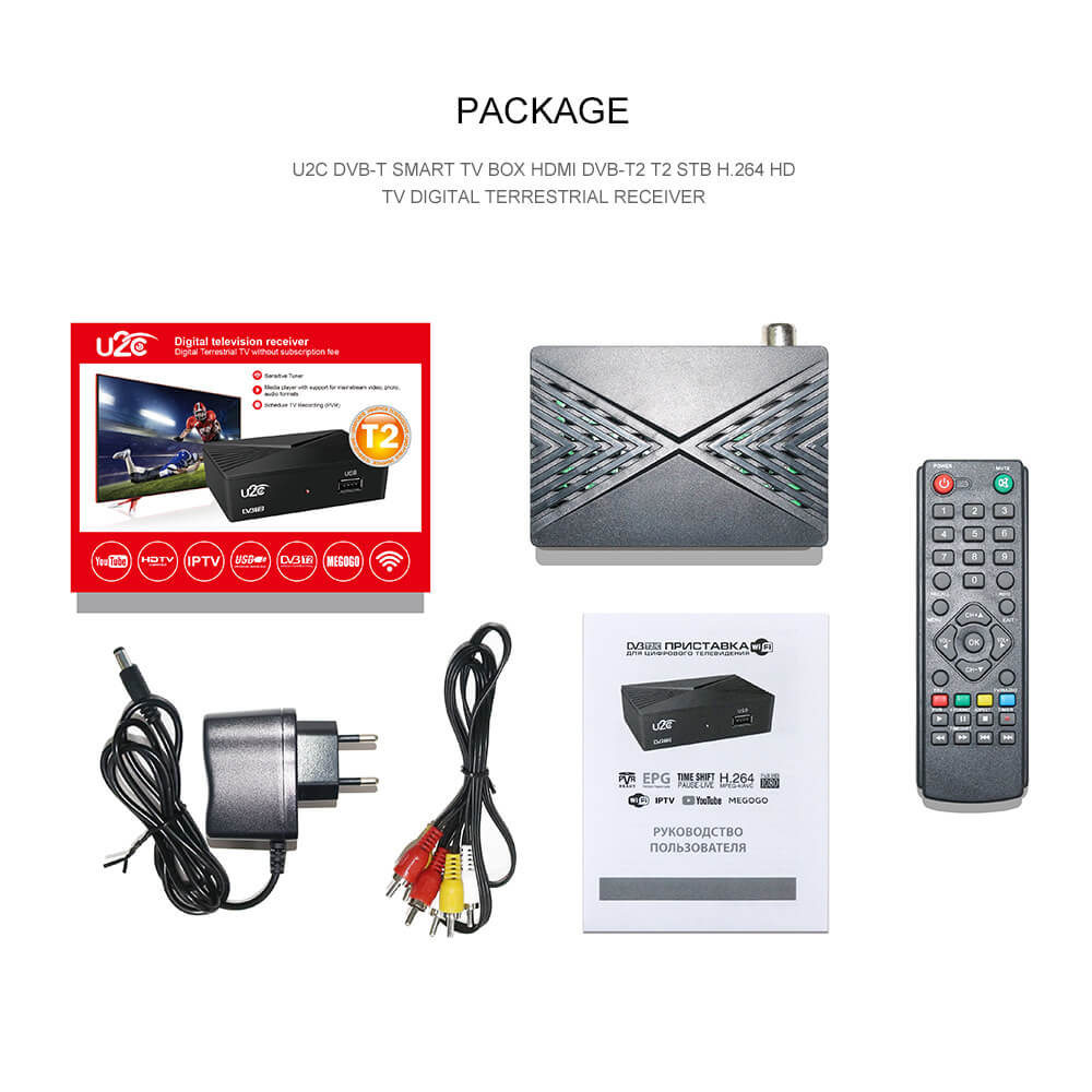 Home STB DVB-T2 90mm factory price HD digital tv box receiver 2