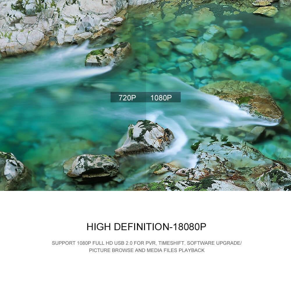 Home STB DVB-T2 90mm factory price HD digital tv box receiver 6