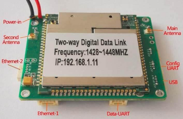 Two-way wireless transmission digital data link module 3