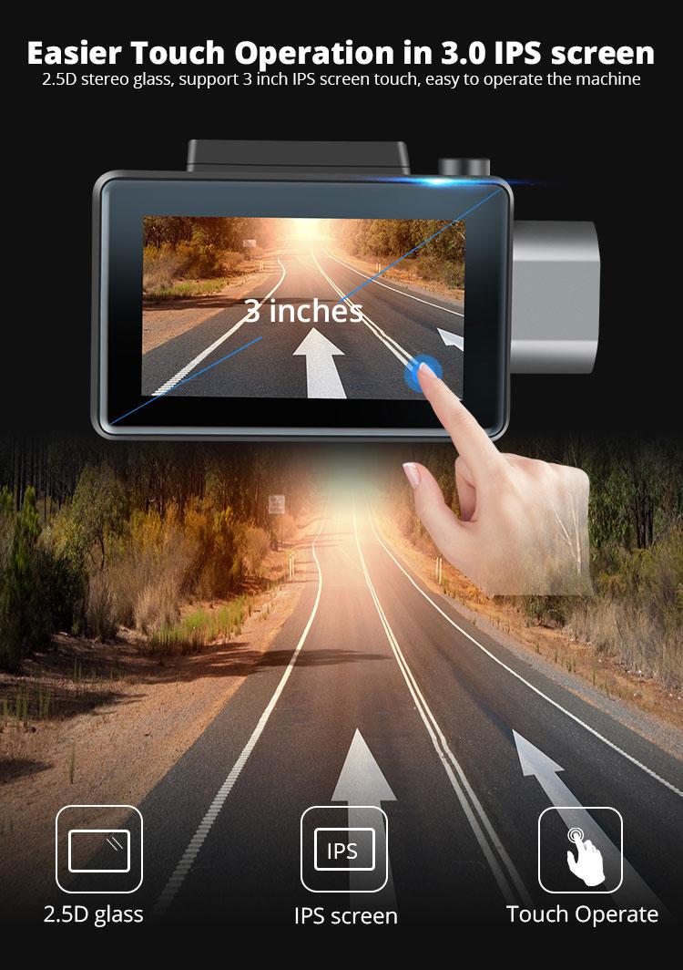 Android DVR dashcam car camera 3.0 inch full 1080 HD GPS logger dual camera video recorder Vcan1608 13