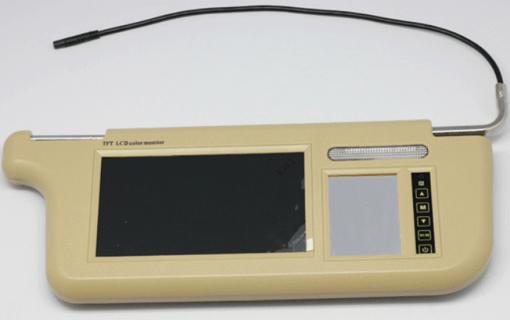 7 inch Sun Visor monitor 9 inch right left side black beige grey 2