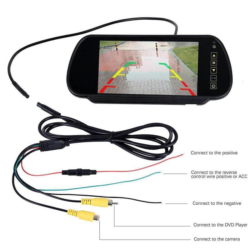 7 inch car mirror monitor