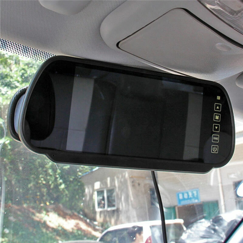 7 Inch Car Mirror Monitor Touch Button Auto Vehicle Parking Rear View Reverse HD Two inputs, install at original mirror RVM-700 17