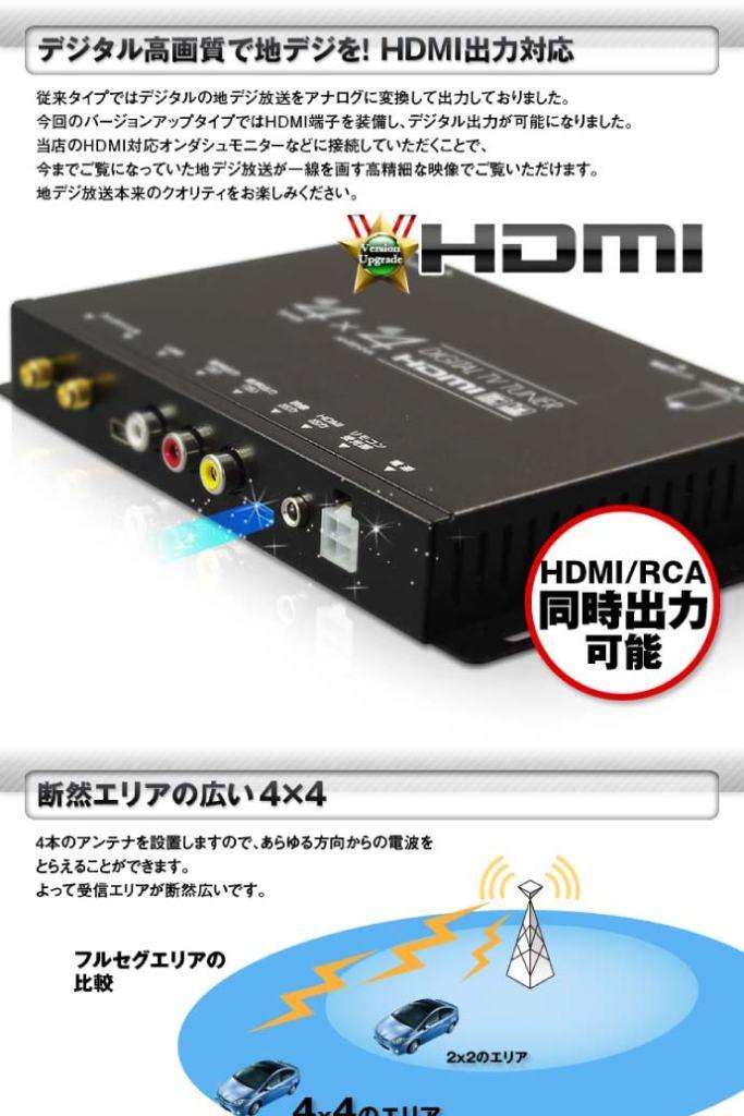 4x4 terrestrial digital tuner FT44F 4×4地デジチューナー 3