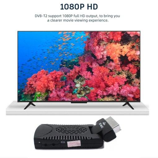 DVB-T2 H265 Scart TV Tuner Box Digital Terrestrial Receptor WIFI Receiver Youtube Set Top Box 1080P IPTV Box 3
