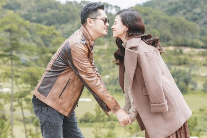 Minh Luân và bạn gái trong chuyến du lịch Đà Lạt. Ảnh: Facebook Minh Luân.