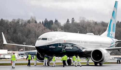Một chiếc737 MAX 8 của hãng sản xuất máy bay Mỹ - Boeing. Ảnh: AFP