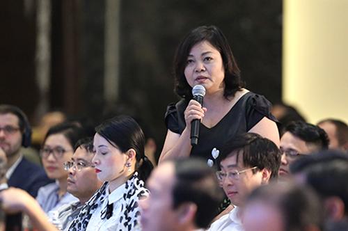 Chuyên gia Nguyễn Thị Thành Thực phát biểu ý kiến tại Diễn đàn chuyên đề Nông nghiệp, thuộc Diễn đàn Kinh tế VIệt Nam hồi tháng 6/2018. Ảnh: Ngọc Thành
