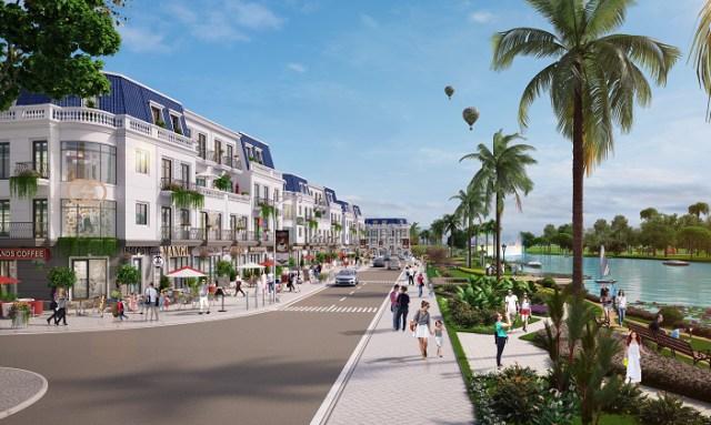 Phối cảnh một góc khu đô thị Việt Úc Varea.