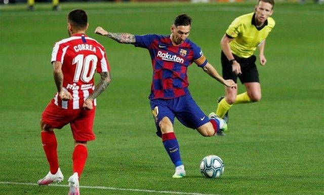 Messi đang dẫn đầu cuộc đua Vua phá lưới La Liga với 22 bàn. Ảnh: Reuters.