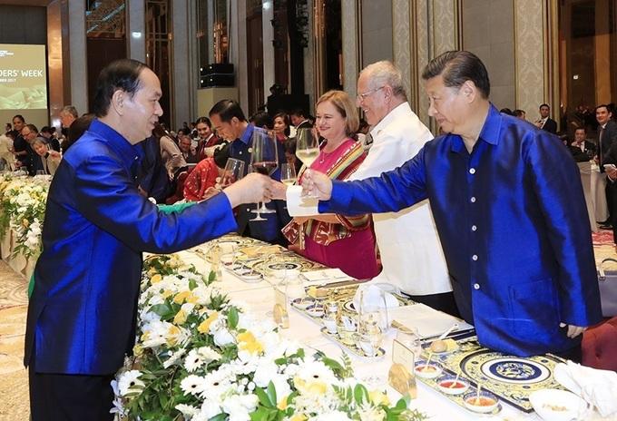 Image result for tẬP CẬN BÌNH VỚI apec vietnam 2017