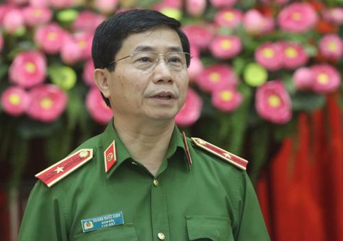 Giám đốc Sở cảnh sát PCCC Hà Nội Thiếu tướng Hoàng Quốc Định. Ảnh: Võ Hải.
