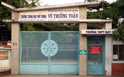Trường THPT Võ Trường Toản, quận 12. Ảnh:Mạnh Tùng.