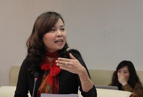 Cô Trần Thị Hải Yến đánh giá hội thi dạy giỏi có nhiều ưu điểm. Ảnh: Thùy Linh