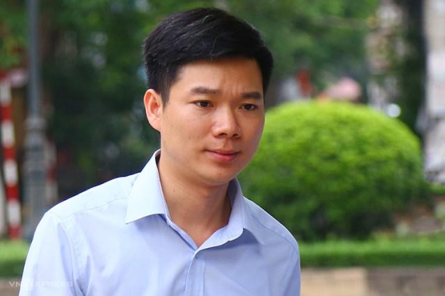 Hoàng Công Lương tại phiên phúc thẩm sáng 13/5. Ảnh: Phạm Dự.
