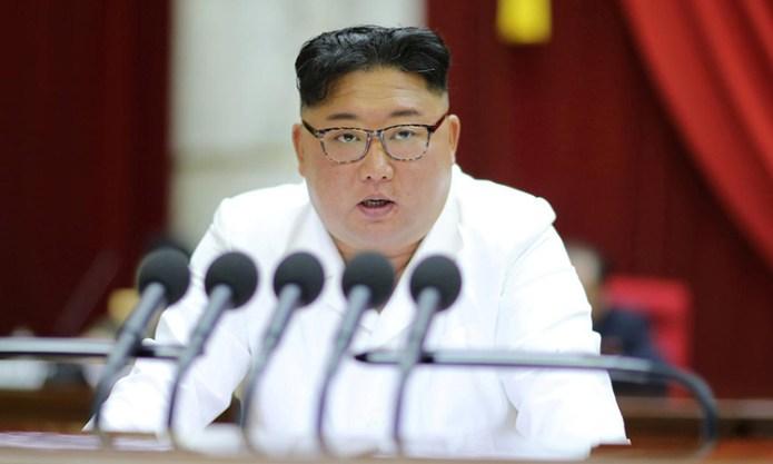 Lãnh đạo Triều Tiên Kim Jong-un phát biểu tại hội nghị của WPK ngày 29/12. Ảnh: Reuters/KCNA.