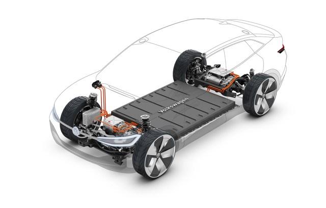 Pin xe điện được đặt dưới sàn. Ảnh: Volkswagen
