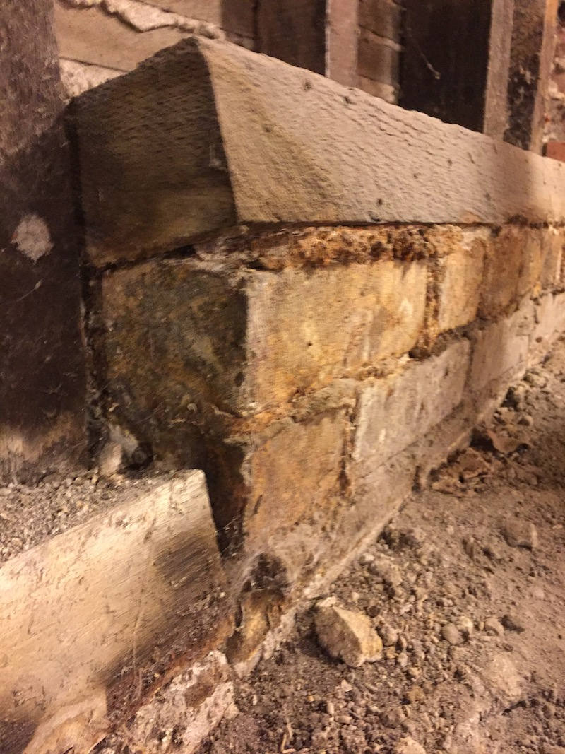 Damaged wood on a san francisco area home before retrofit constuction