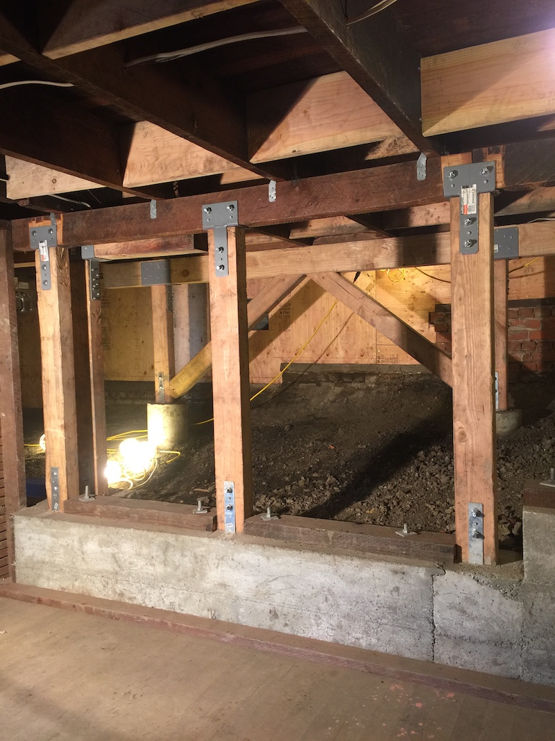 New seismic structural design on a home