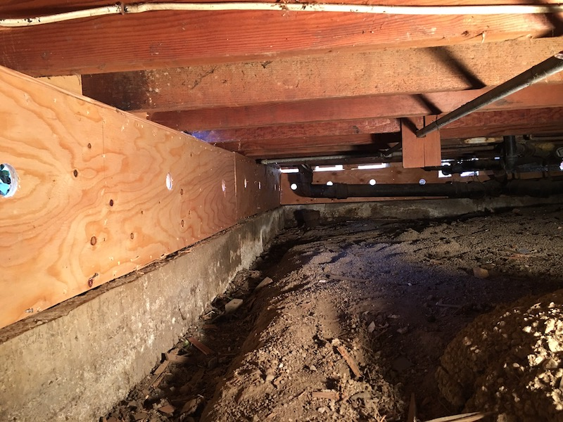 The inside of a san francisco area home in the process of structural earthquake engineering