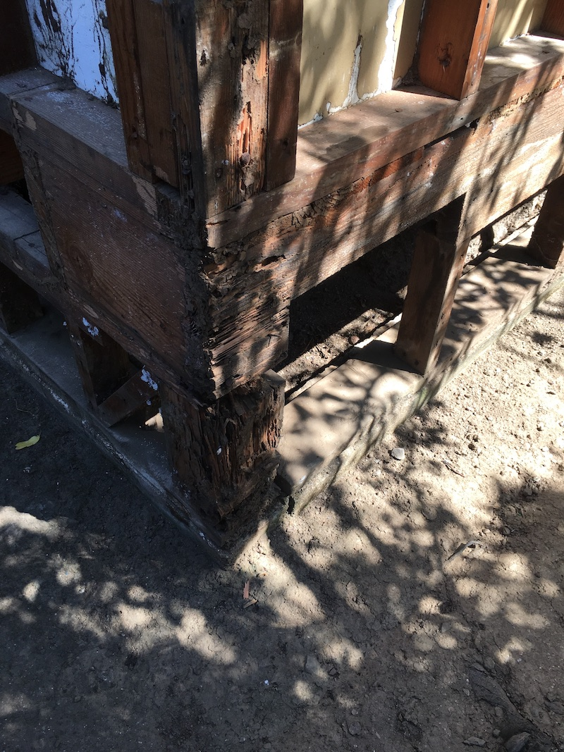 A damaged san francisco area house in need of a new retrofit foundation