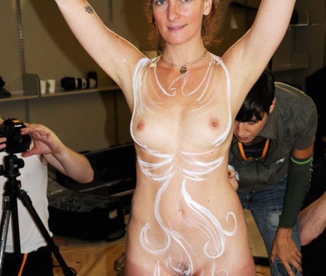 Fremont Body Paint Nude Girl Naked Girl Public