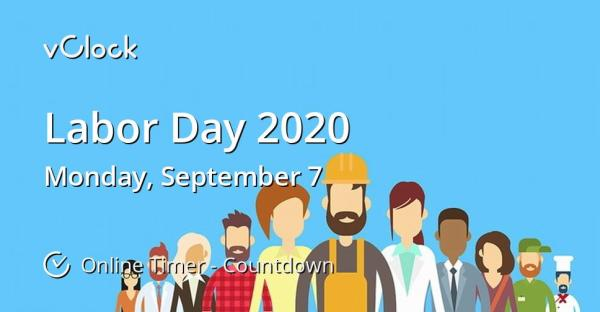 When is Labor Day 2020 - Online Timer - vClock