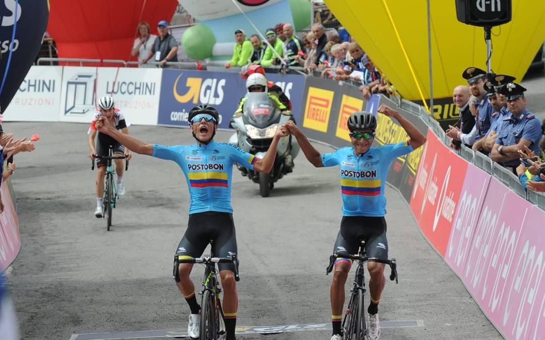 Gino Mäder 3ème d'étape sur le Giro U23