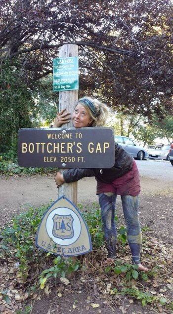 Brittany Nielsen at Bottcher's Gap in Big Sur.