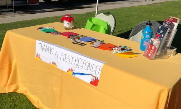 SIGNED, SEALED, DELIVERED   Area resident spends year writing, gathering cards for Thomas Fire first responders