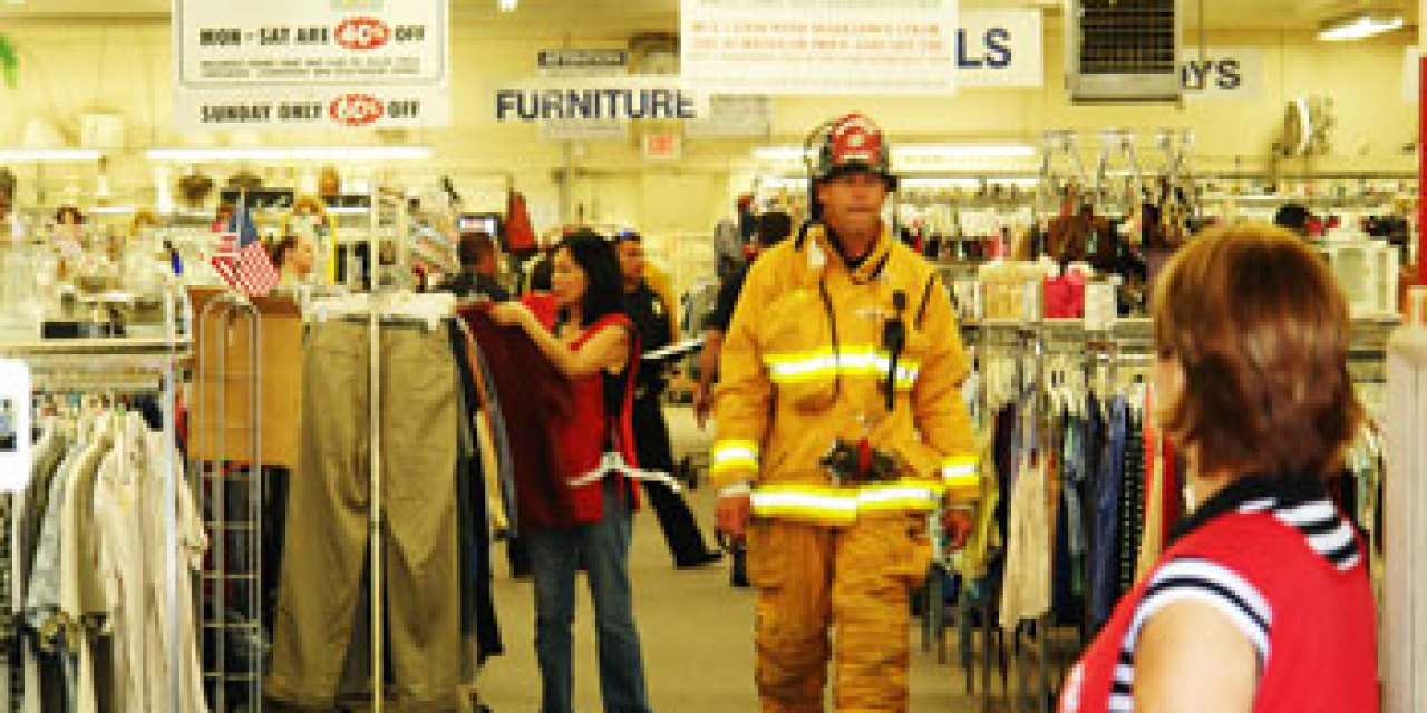 Officials investigate a string of arson fires set in downtown thrift stores