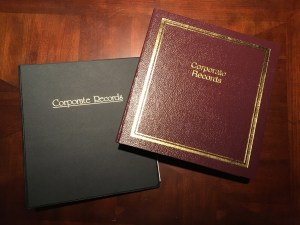 photo of two corporate minute books