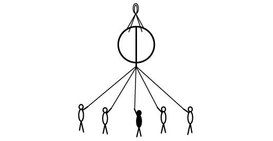 くす玉(紐の引き方)