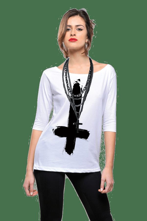 Shamelesshirt Black Cross