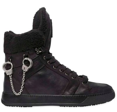Handcuffs Hanging on Sneakers