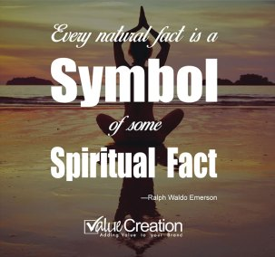 Easy natural fact is the symbol of some spiritual fact
