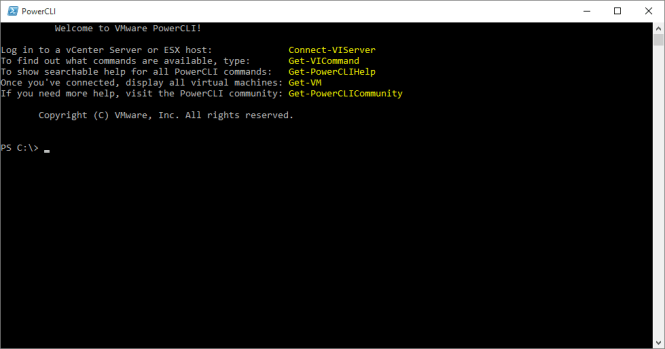 PowerCLI 6