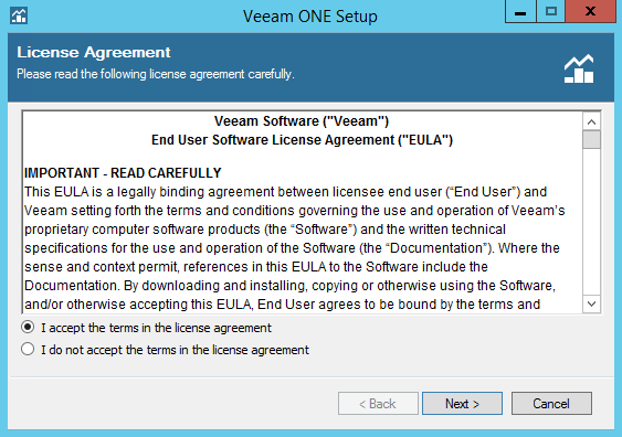 Veeam ONE step 2