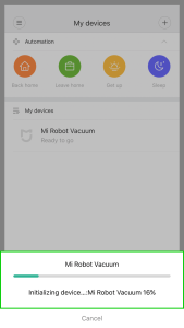 Integrating the vacuum cleaner Xiaomi Robot Vacuum