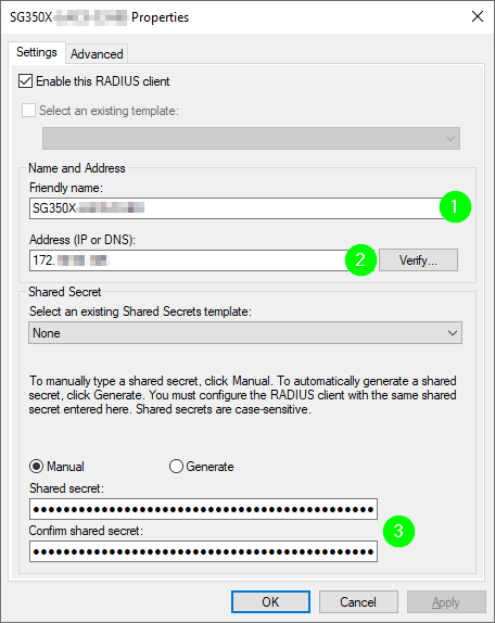 Set up authentic Radius Cisco with Windows Server NPS