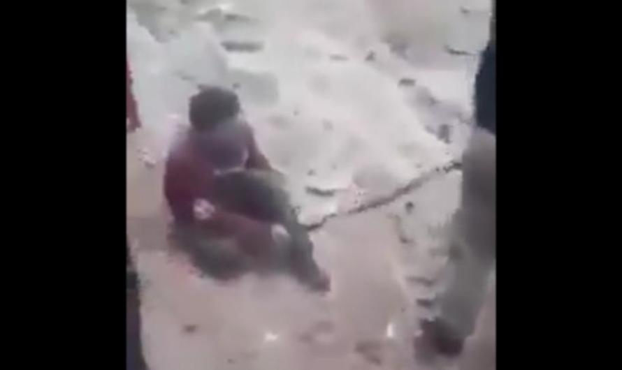 With video..  A Syrian Citizen was Kicked by Feet of pro-Turkish Element.