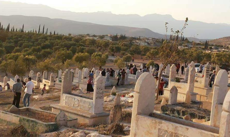 عفرين: جرافات تركية تدمر مقبرة قرية سنارة