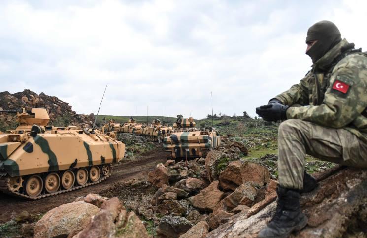 ادلب: دخول رتل تركي من معبر خربة الجوز إلى نقطة المراقبة في الريف الغربي