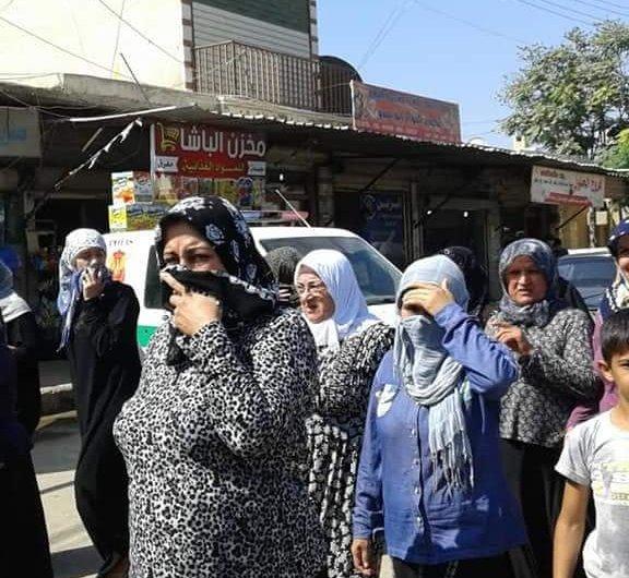 عفرين: مظاهرة في جنديرس ضد انتهاكات القوات التركية والفصائل السورية الموالية